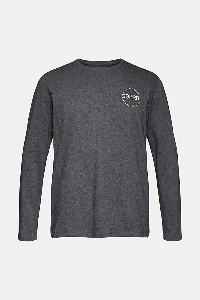Long sleeve top made of 100% organic cotton, ANTHRACITE, detail image number 5