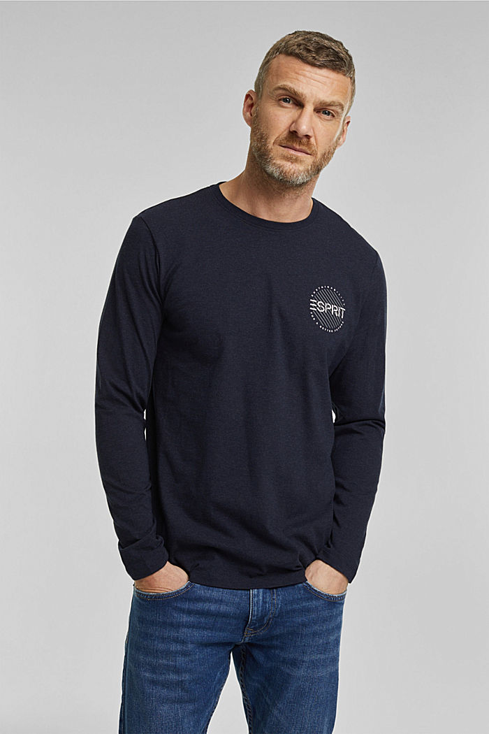 Longsleeve aus 100% Organic Cotton, NAVY, detail image number 0