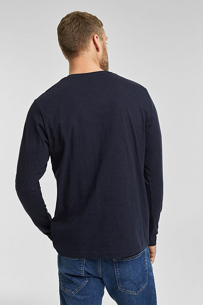 Longsleeve aus 100% Organic Cotton, NAVY, detail image number 3