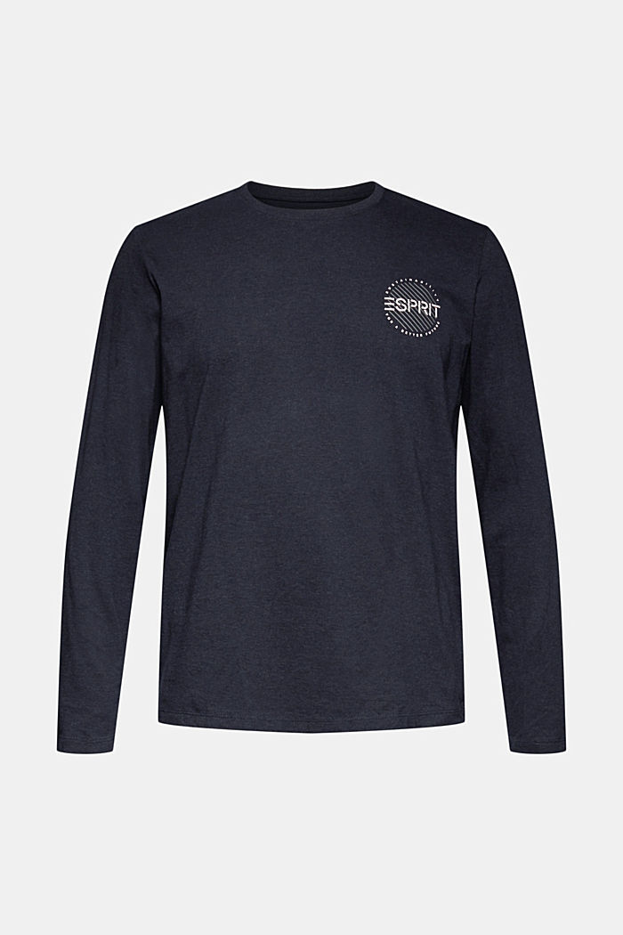 Longsleeve aus 100% Organic Cotton, NAVY, detail image number 5