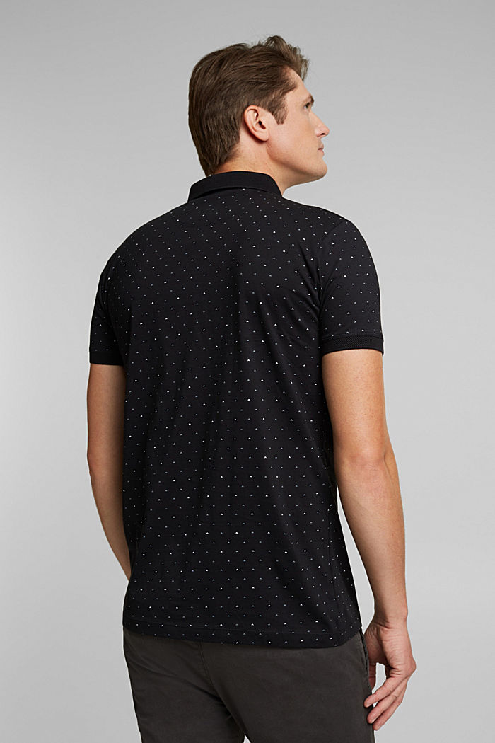 Jersey polo shirt made of 100% organic cotton, BLACK, detail image number 3