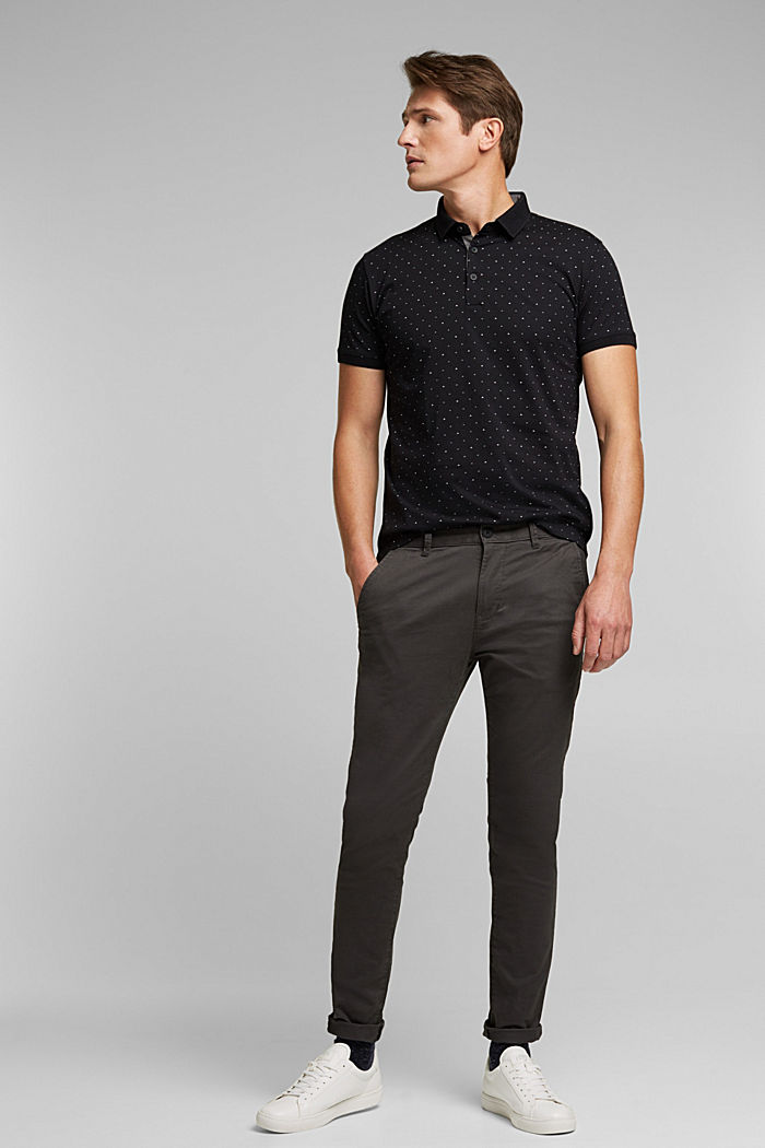 Jersey polo shirt made of 100% organic cotton, BLACK, detail image number 2