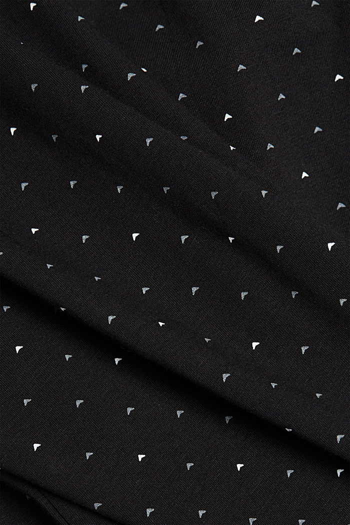 Jersey polo shirt made of 100% organic cotton, BLACK, detail image number 4