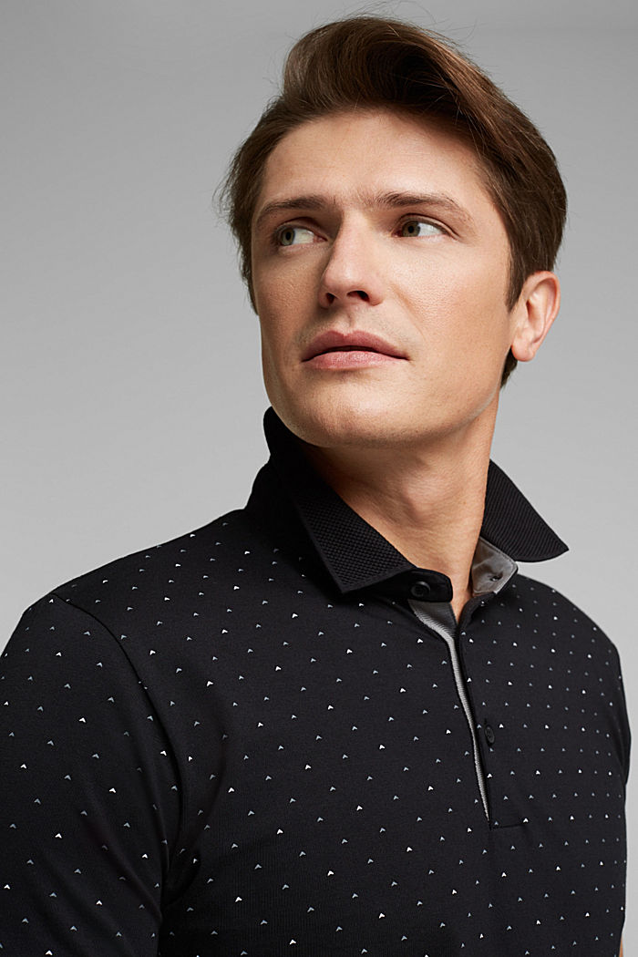 Jersey polo shirt made of 100% organic cotton, BLACK, detail image number 5