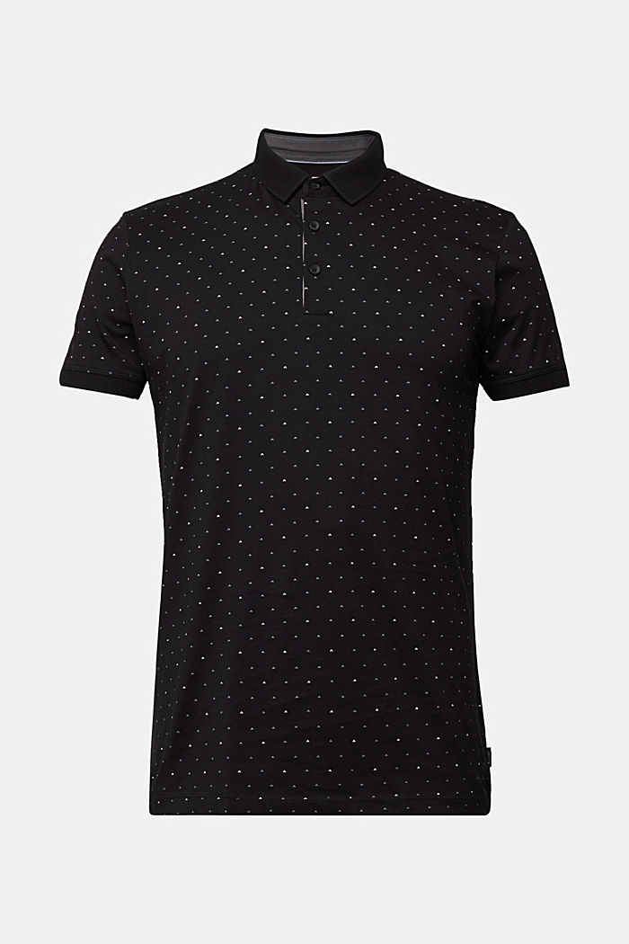 Jersey polo shirt made of 100% organic cotton, BLACK, detail image number 6