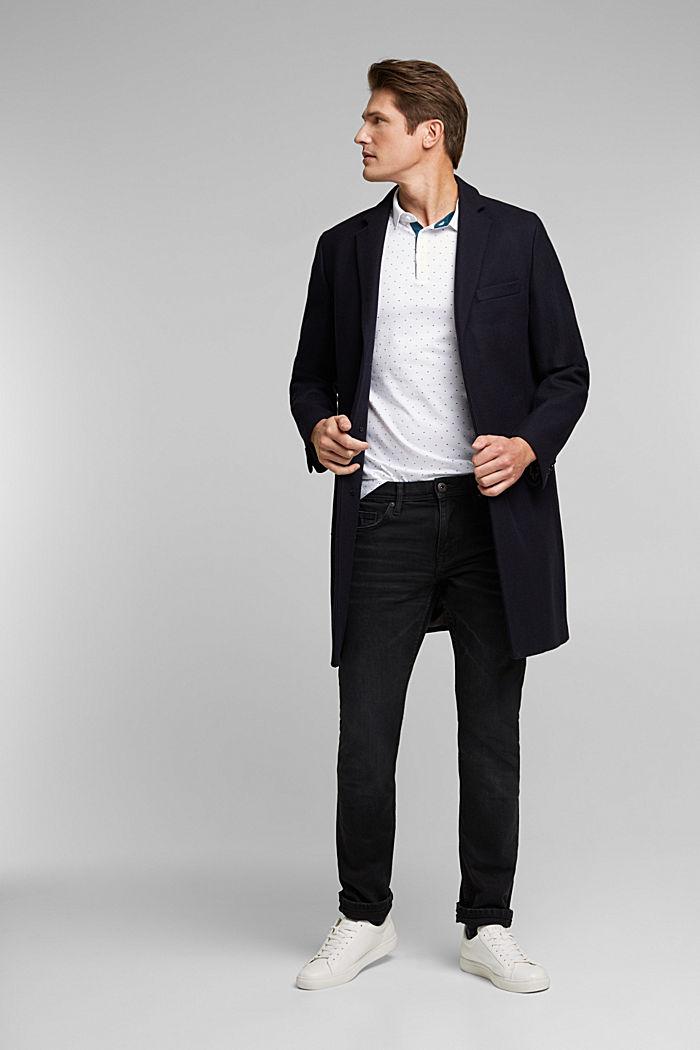 Jersey-Poloshirt aus 100% Organic Cotton, WHITE, detail image number 4