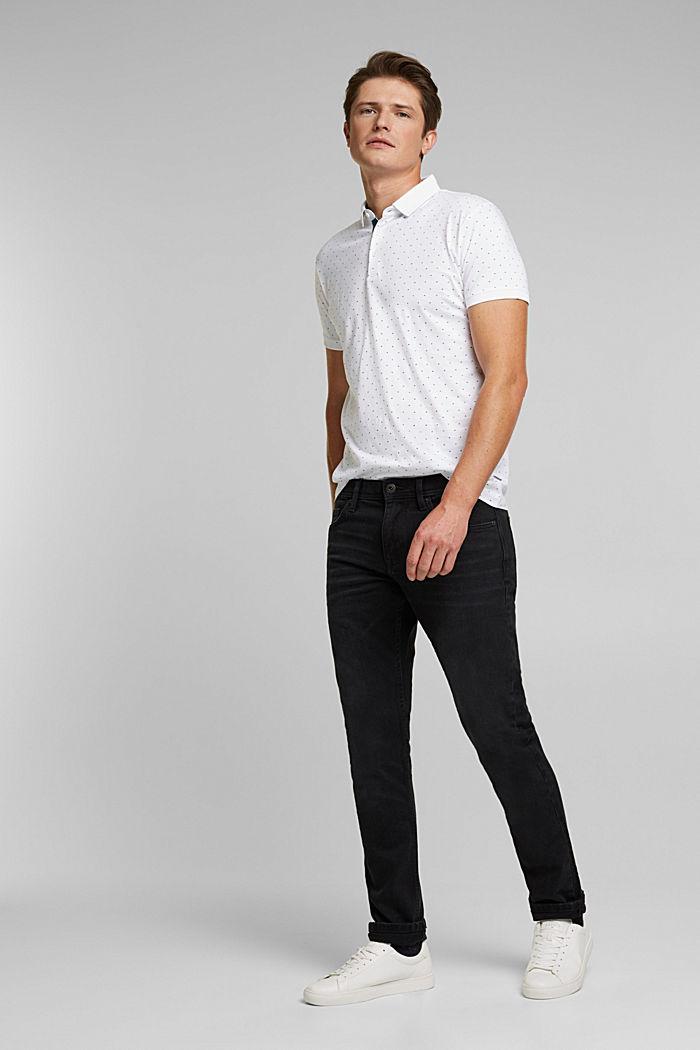 Jersey-Poloshirt aus 100% Organic Cotton, WHITE, detail image number 2