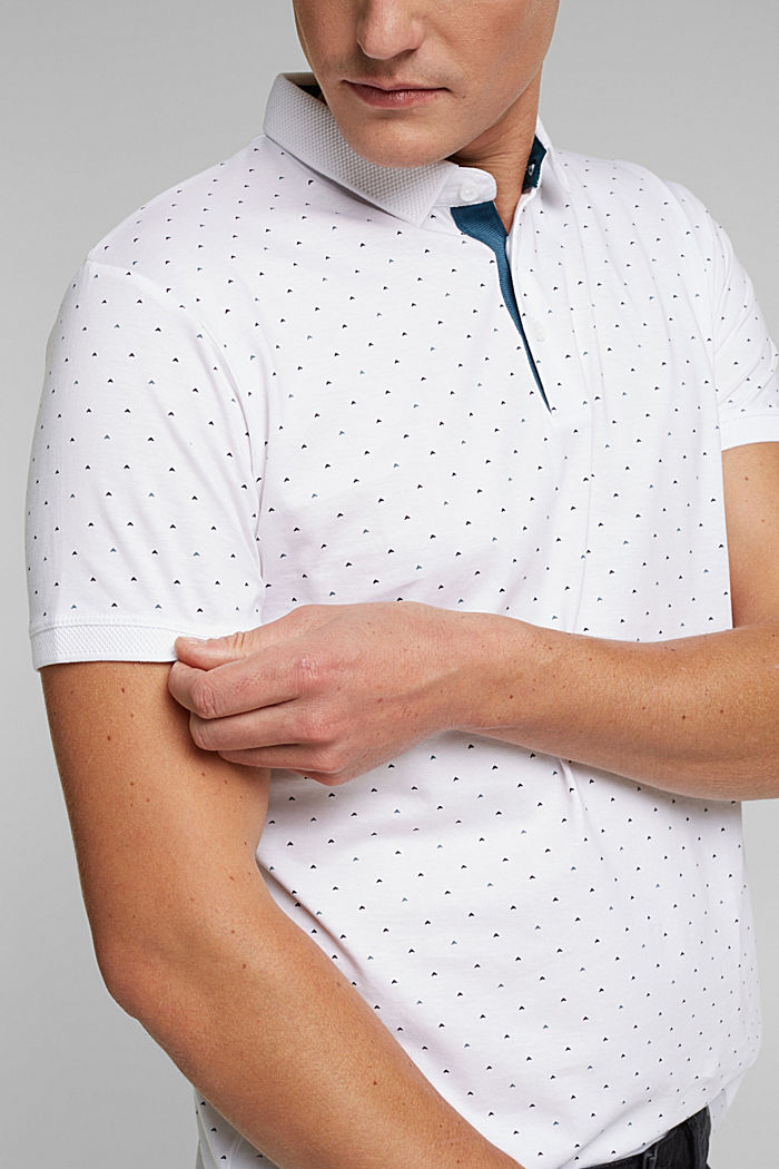Jersey polo shirt made of 100% organic cotton, WHITE, detail image number 1