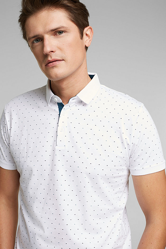 Jersey polo shirt made of 100% organic cotton, WHITE, detail image number 6