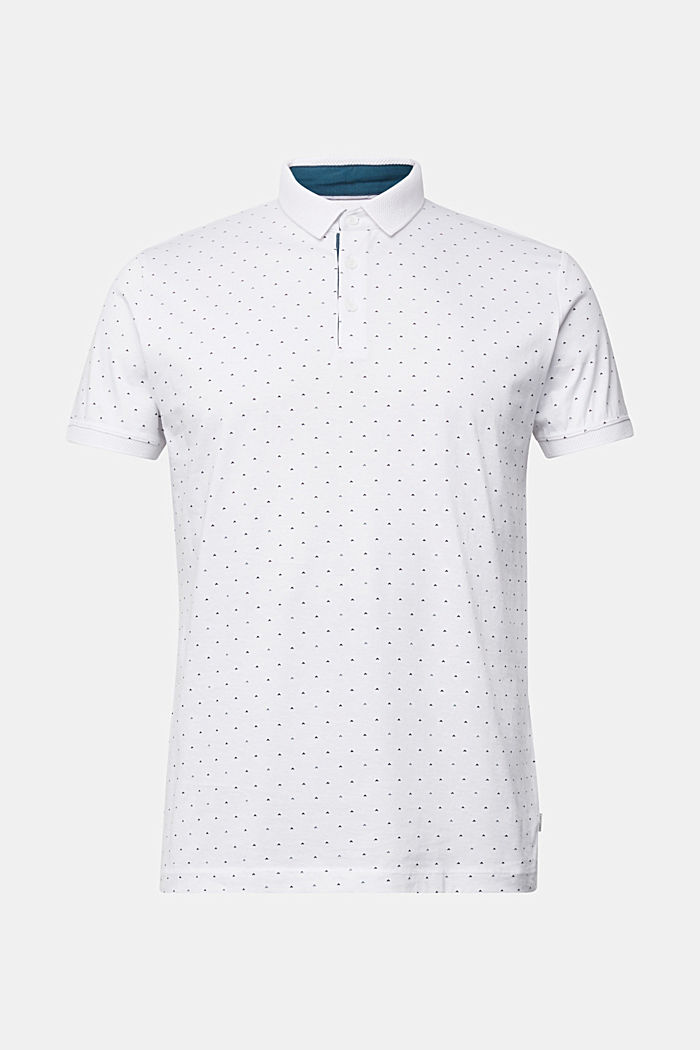 Jersey polo shirt made of 100% organic cotton, WHITE, detail image number 7