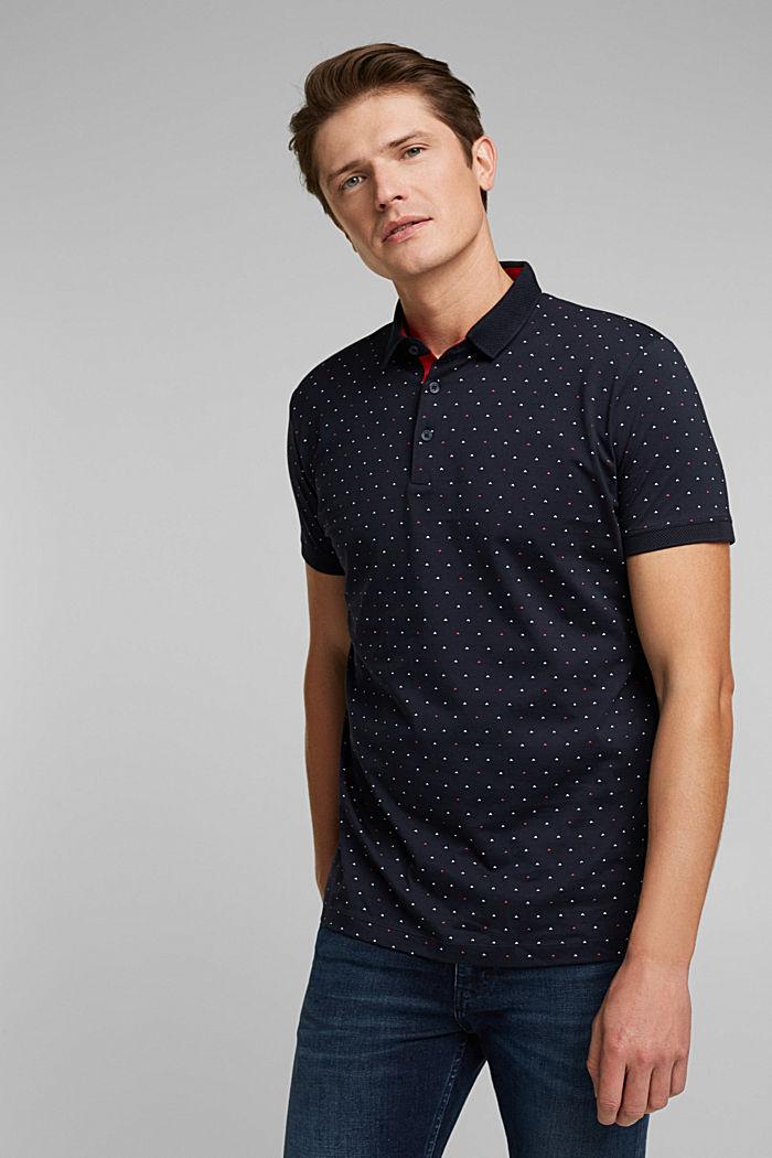Jersey-Poloshirt aus 100% Organic Cotton, NAVY, detail image number 0