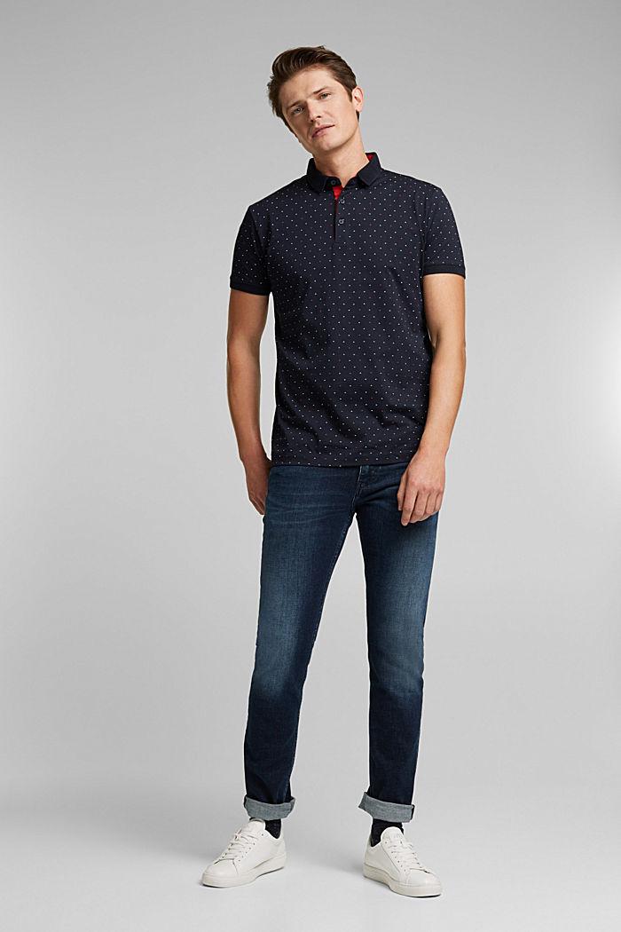 Jersey-Poloshirt aus 100% Organic Cotton, NAVY, detail image number 2