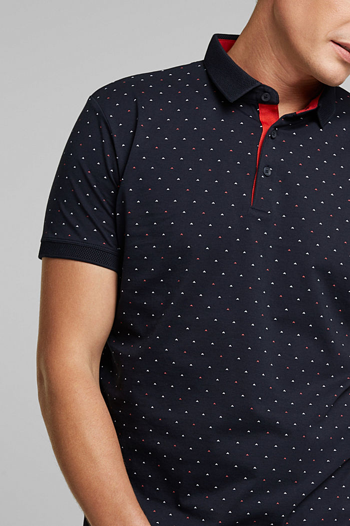 Jersey polo shirt made of 100% organic cotton, NAVY, detail image number 1