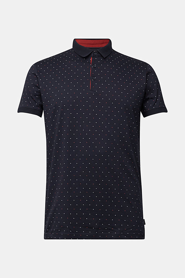 Jersey polo shirt made of 100% organic cotton, NAVY, detail image number 6