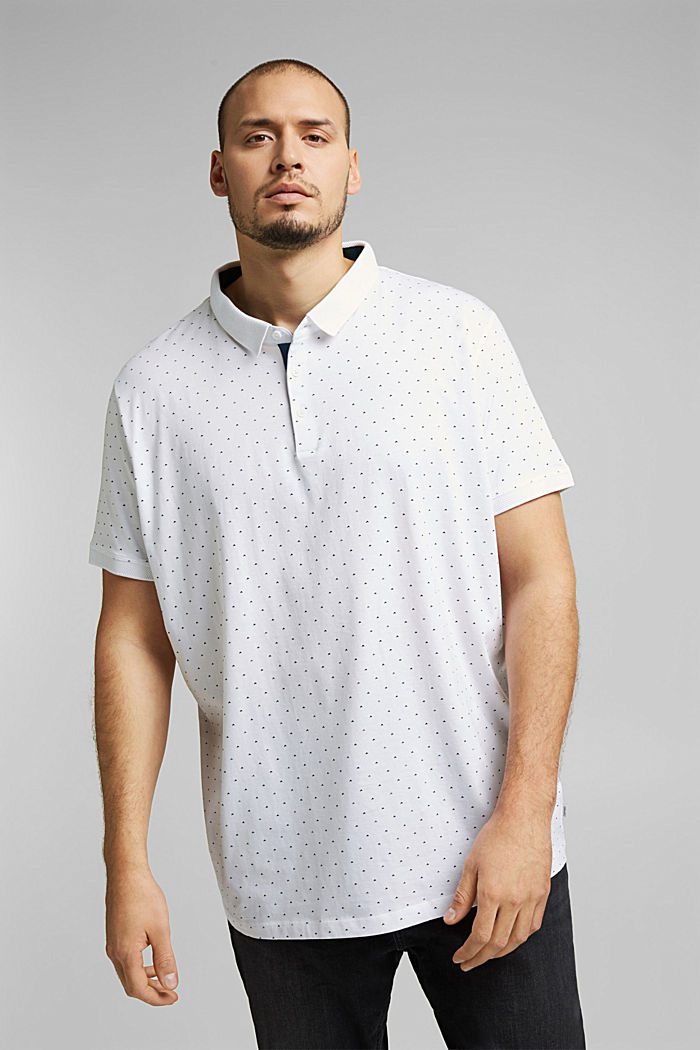 Polo shirt in 100% organic cotton, WHITE, detail image number 0