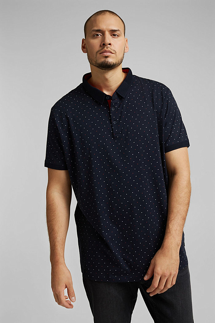 Polo in 100% cotone biologico, NAVY, detail image number 0