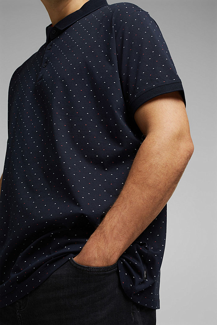 Polo in 100% cotone biologico, NAVY, detail image number 1