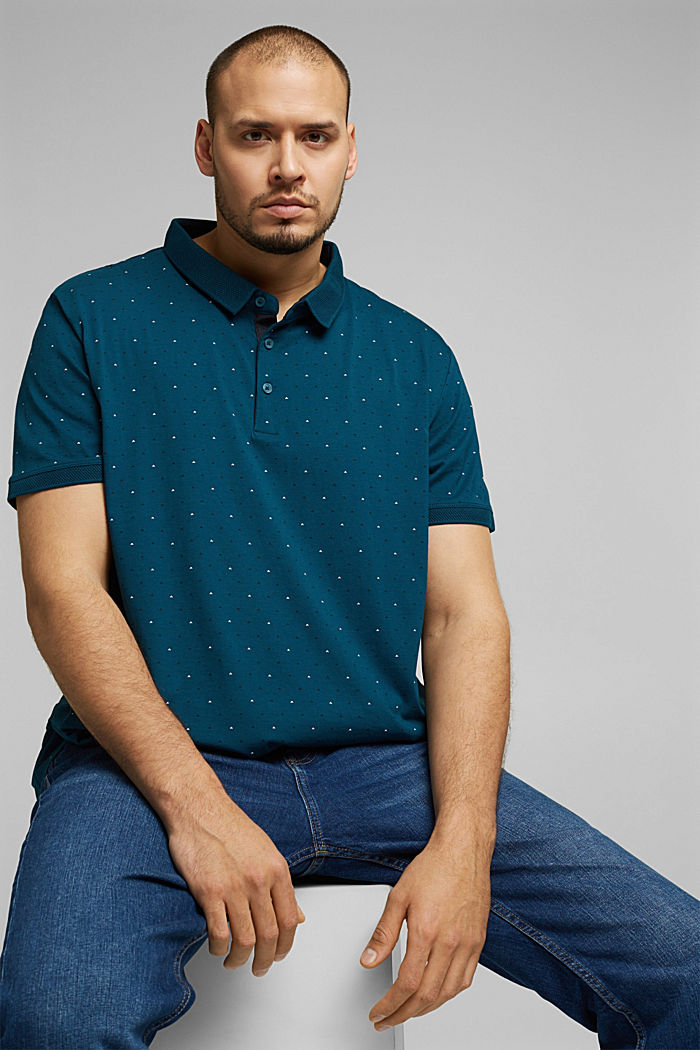 Polo shirt in 100% organic cotton, TEAL BLUE, detail image number 3