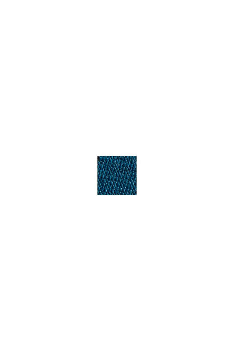 Kaulus-T-paita 100 % luomupuuvillaa, TEAL BLUE, swatch