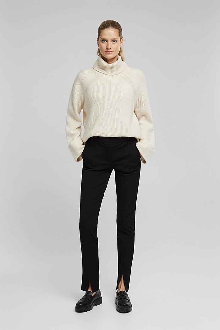 Pantalón de jersey con LENZING™ ECOVERO™, BLACK, detail image number 1