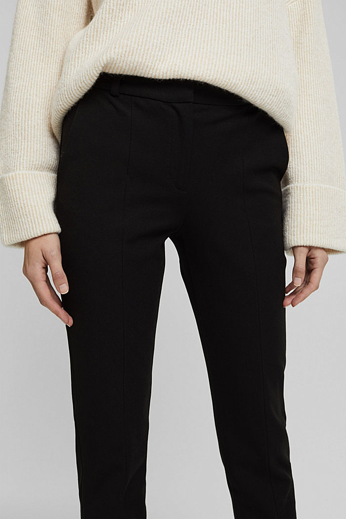 Pantalón de jersey con LENZING™ ECOVERO™, BLACK, detail image number 2