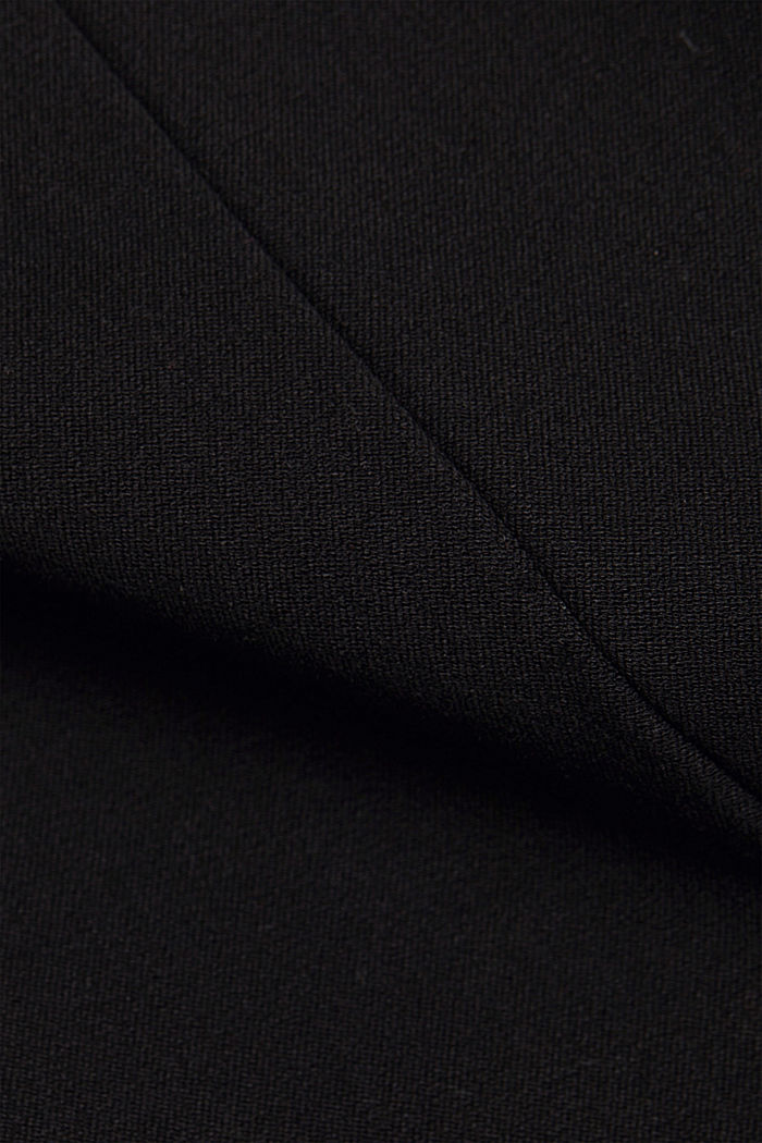 Jersey trousers with LENZING™ ECOVERO™, BLACK, detail image number 4