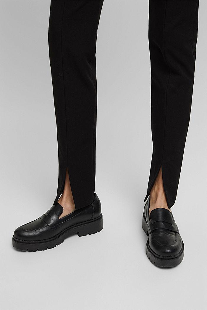 Pantalón de jersey con LENZING™ ECOVERO™, BLACK, detail image number 5