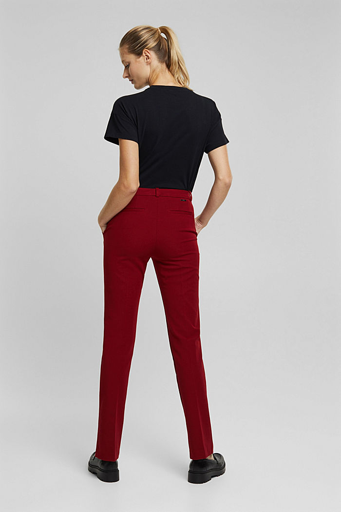 Jersey trousers with LENZING™ ECOVERO™, DARK RED, detail image number 3