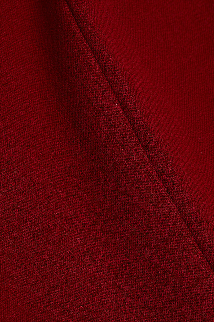 Jersey trousers with LENZING™ ECOVERO™, DARK RED, detail image number 4