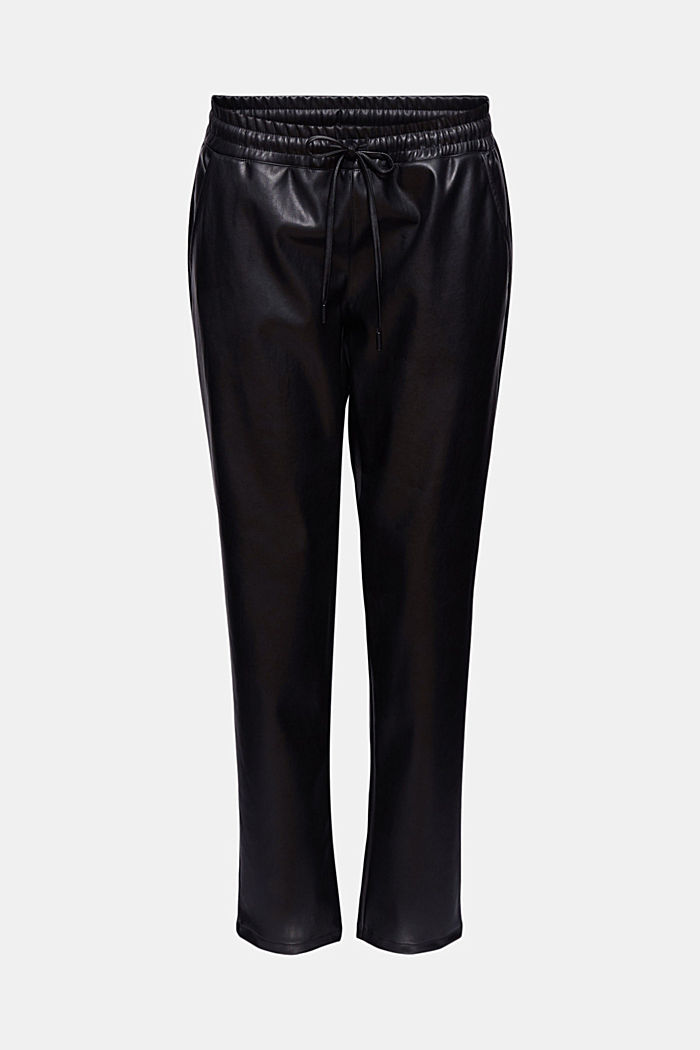 Faux leather tracksuit bottoms