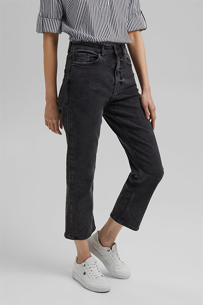 Enkellange high rise jeans met stretch