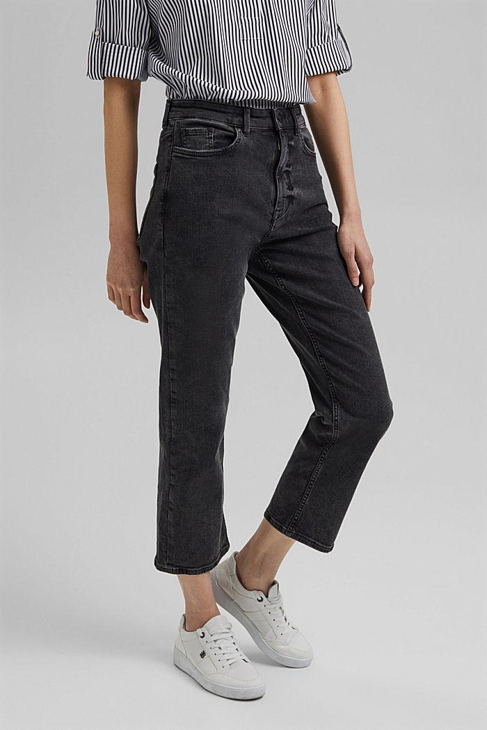Knöchellange High-rise-Jeans mit Stretch
