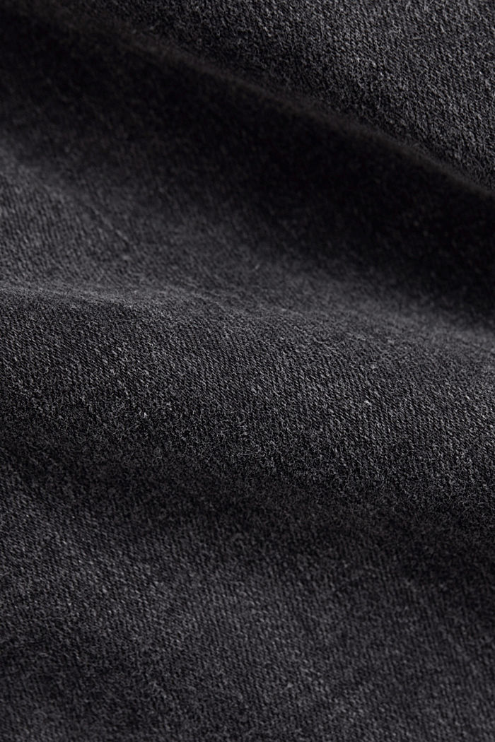 Ankle-length high-waisted stretch jeans, BLACK DARK WASHED, detail image number 4