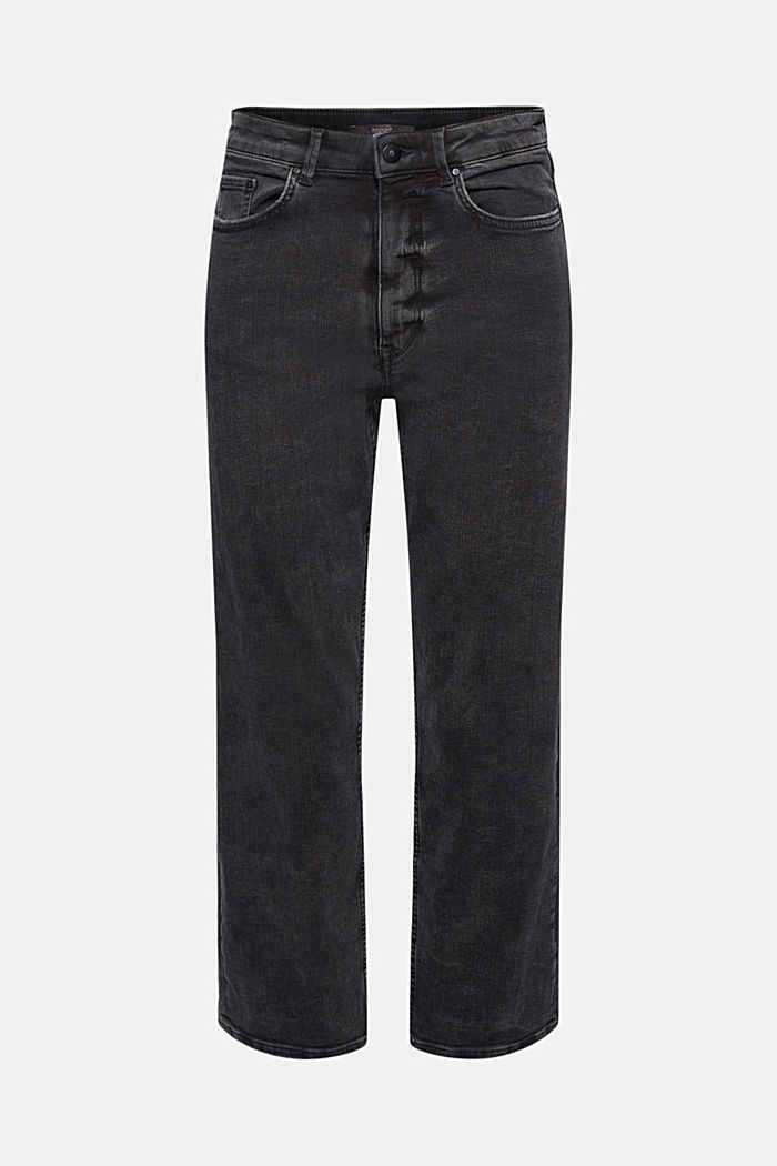 Ankle-length high-waisted stretch jeans