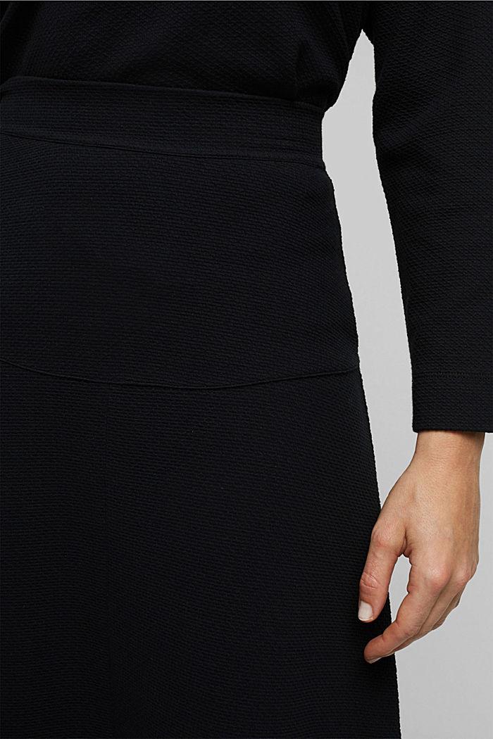Midirok van gestructureerd breisel, BLACK, detail image number 2