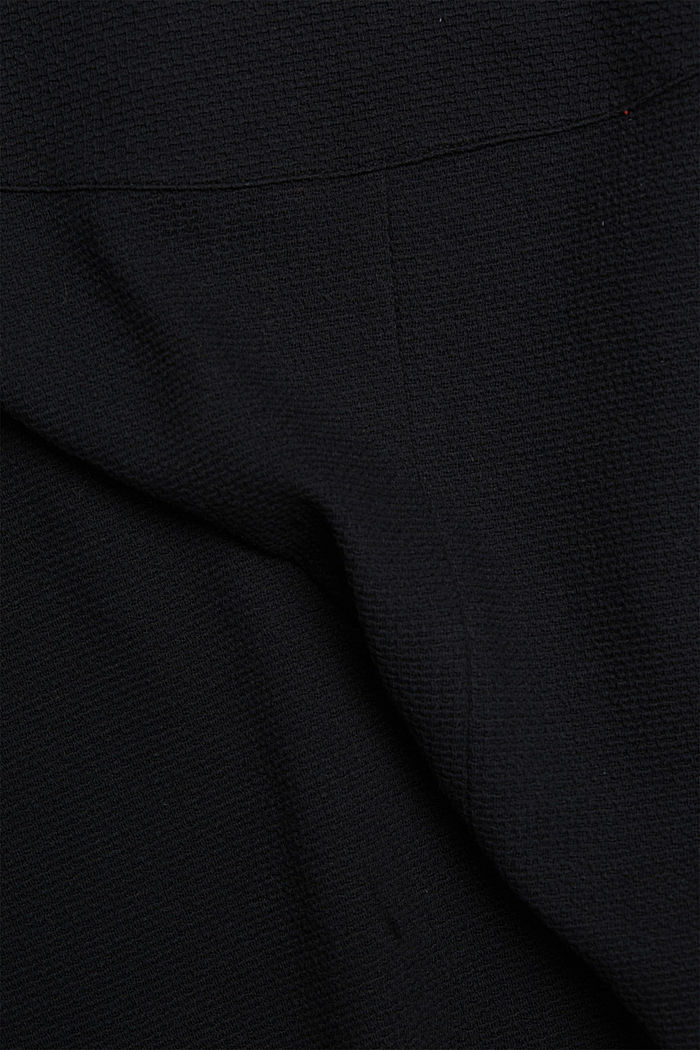 Midirok van gestructureerd breisel, BLACK, detail image number 4