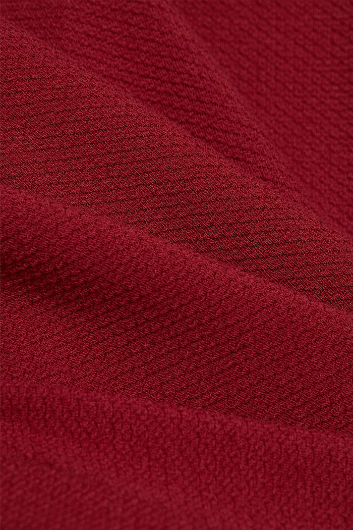 Midi skirt made of textured knit fabric, DARK RED, detail image number 4