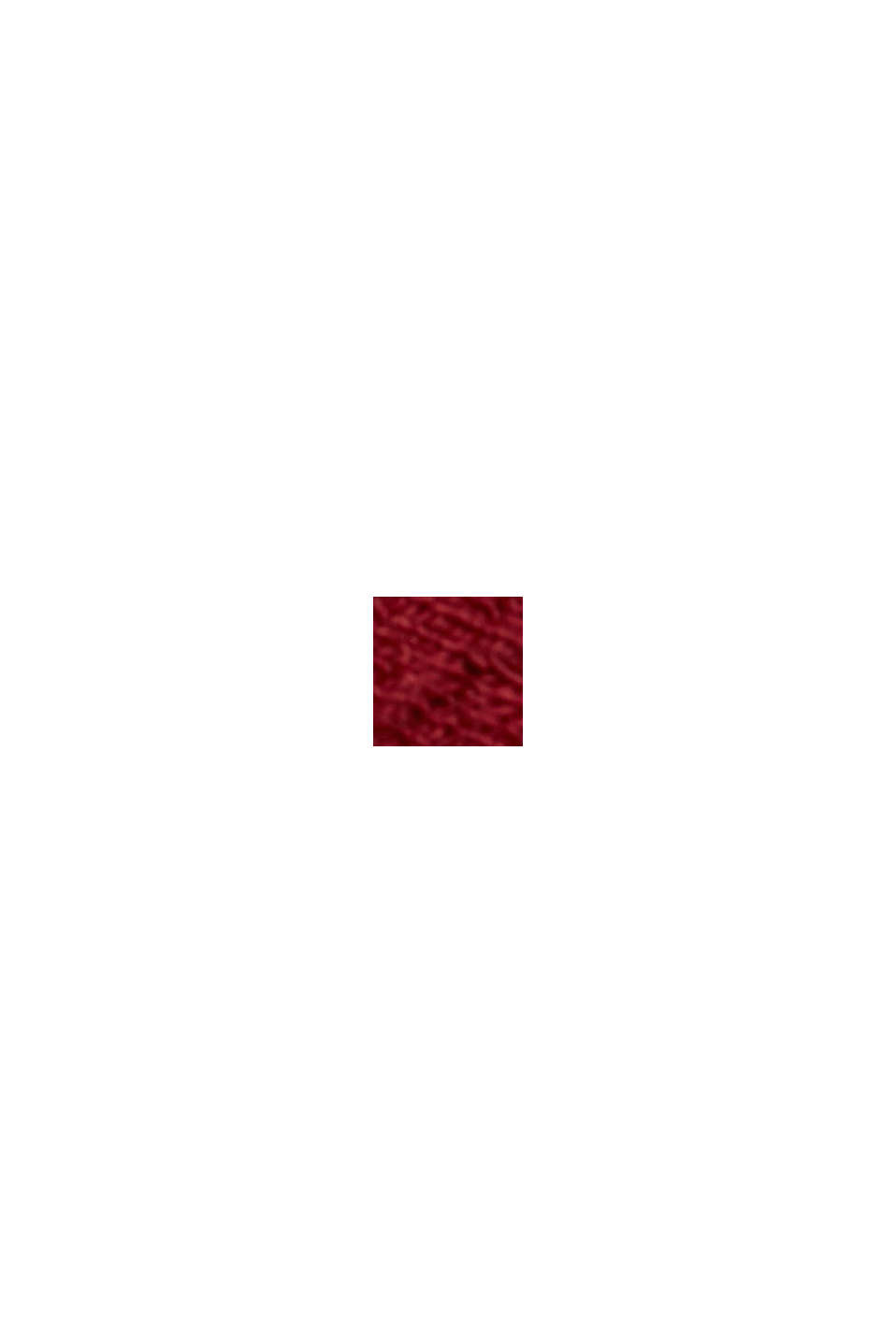 Midirok van gestructureerd breisel, DARK RED, swatch