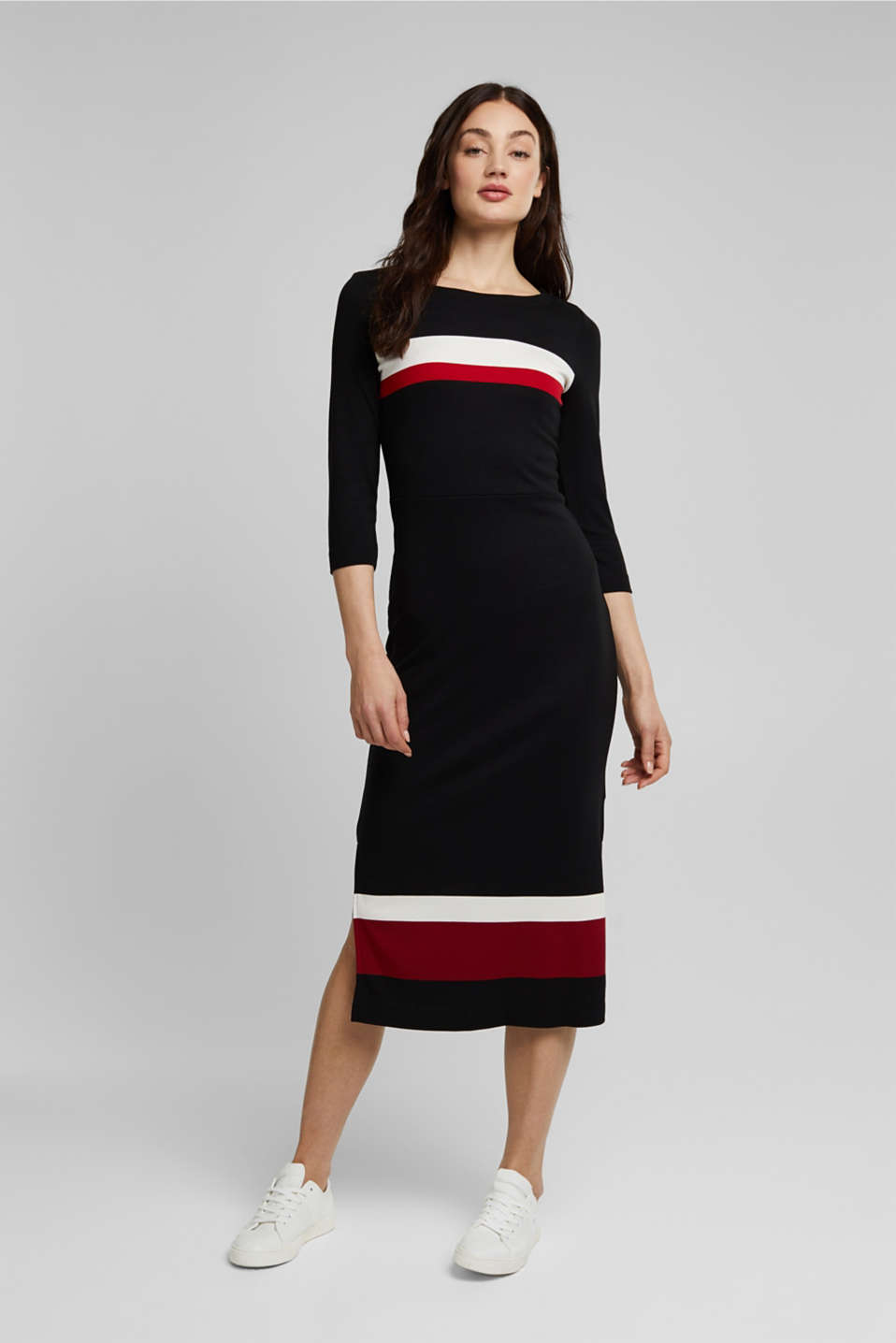 Esprit - Jersey dress with LENZING™ ECOVERO™