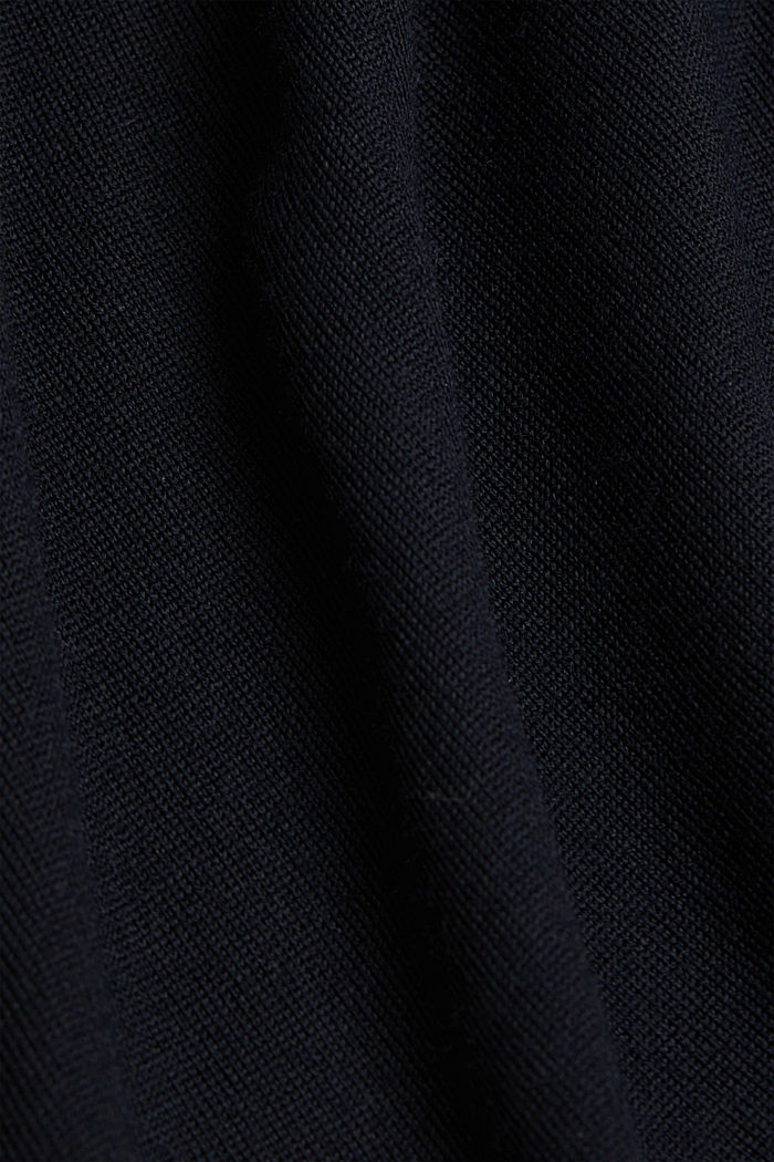 Knitted dress made of 100% merino wool, BLACK, detail image number 4
