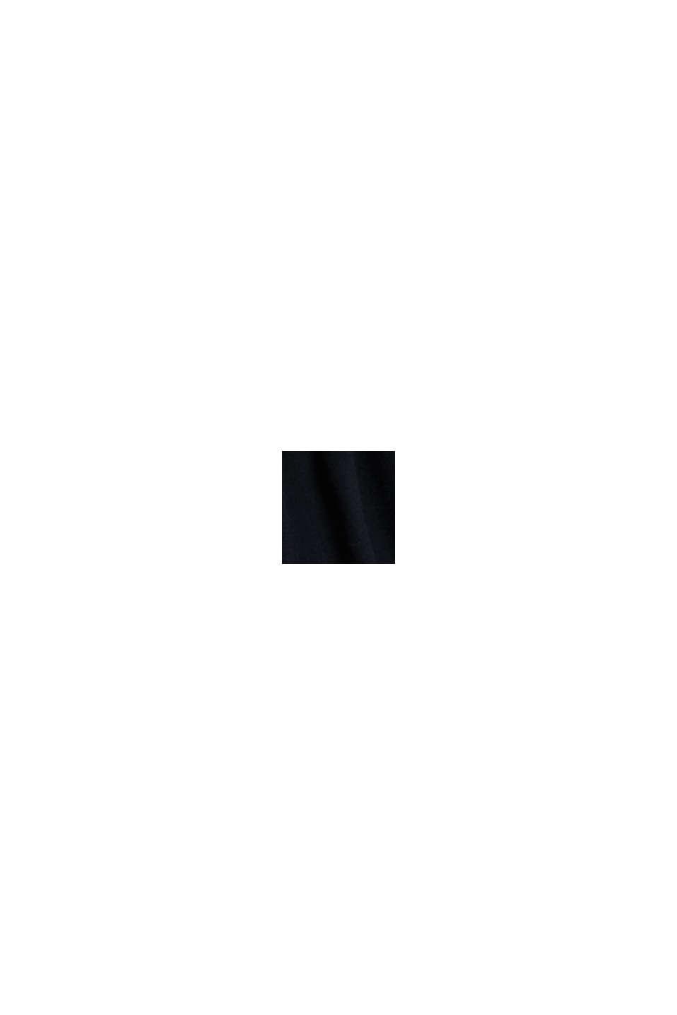 Robe en maille, 100% laine mérinos, BLACK, swatch
