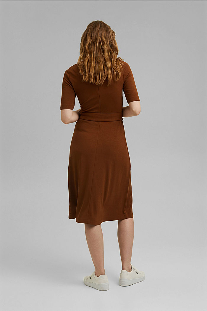 Jersey dress with LENZING™ ECOVERO™, TOFFEE, detail image number 2