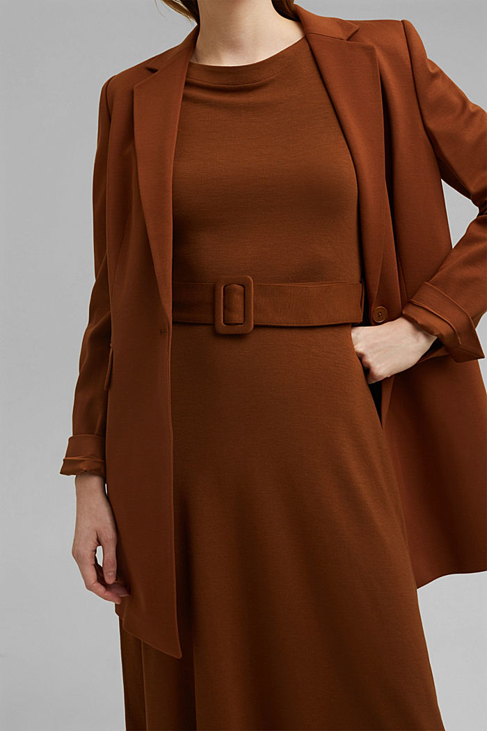 Jersey dress with LENZING™ ECOVERO™, TOFFEE, detail image number 3