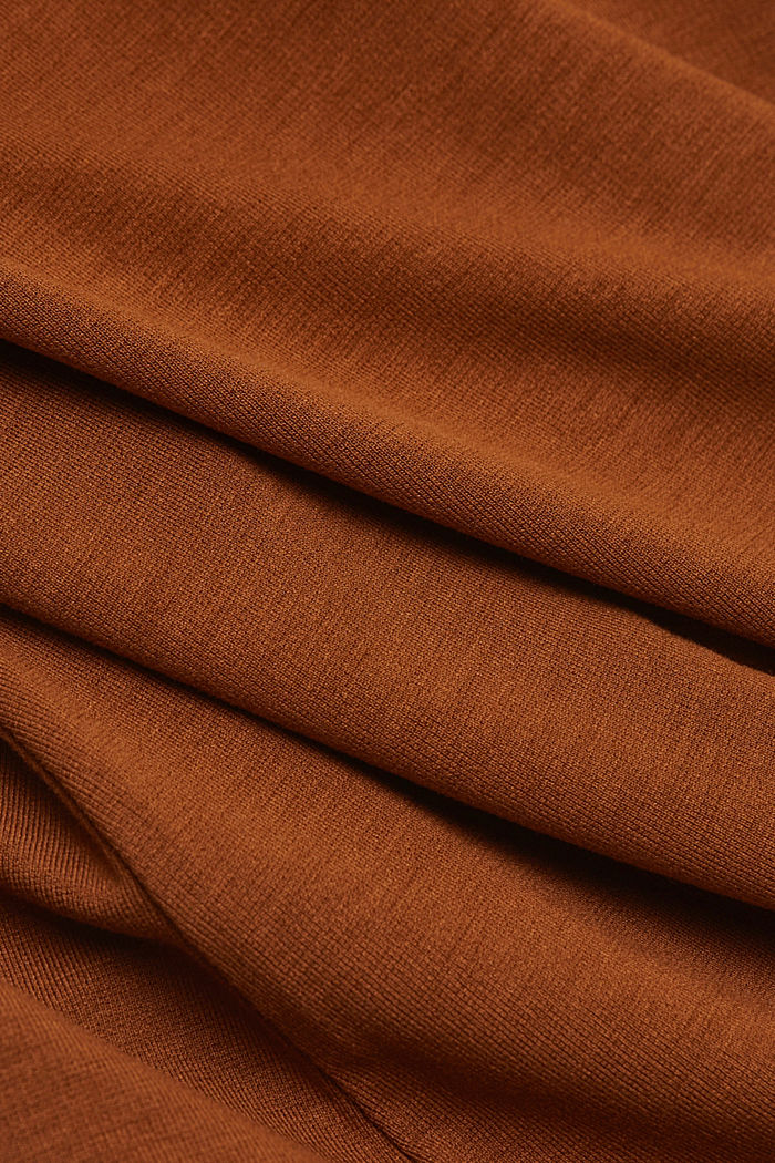 Jersey dress with LENZING™ ECOVERO™, TOFFEE, detail image number 4