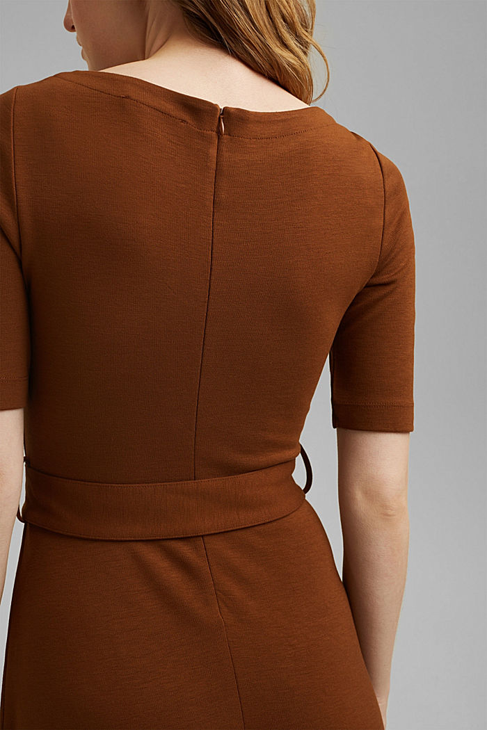Jersey dress with LENZING™ ECOVERO™, TOFFEE, detail image number 5