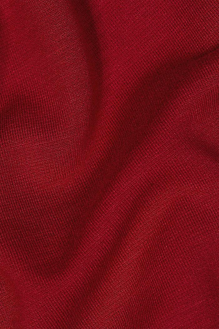 Jersey-Kleid mit LENZING™ ECOVERO™, DARK RED, detail image number 4
