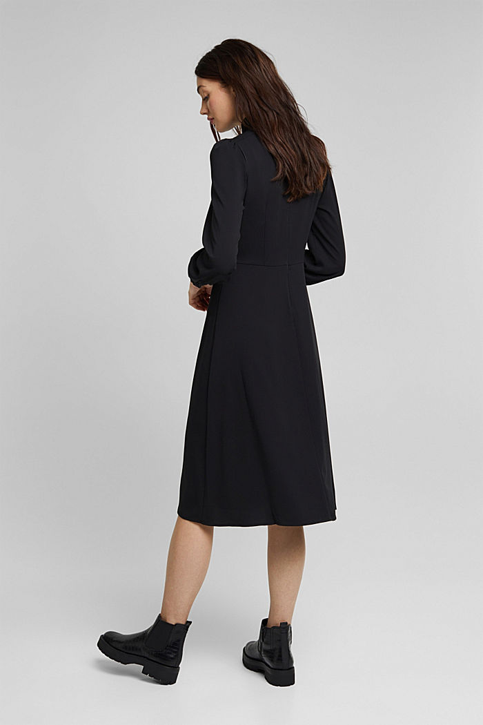 Midi dress with a stand-up collar, BLACK, detail image number 2