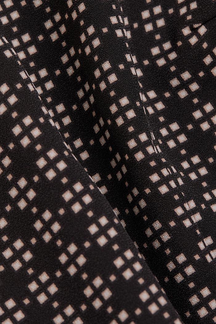 Recycled: Midi dress in patterned crêpe, BLACK, detail image number 4