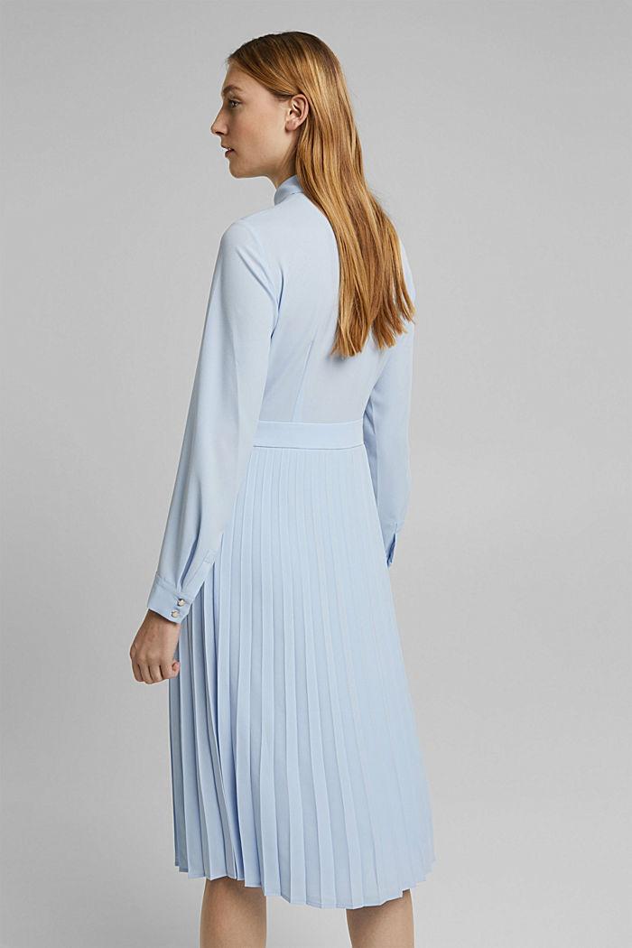 Recycelt: Midi-Hemdblusenkleid mit Plissee, PASTEL BLUE, detail image number 2