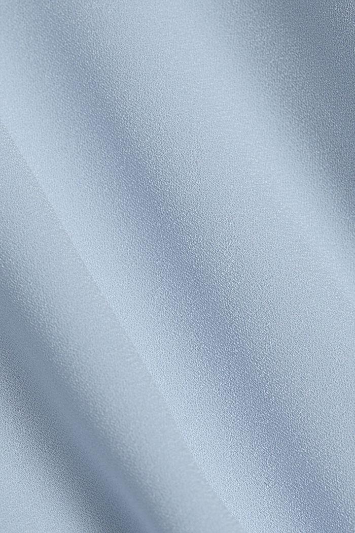 Recycelt: Midi-Hemdblusenkleid mit Plissee, PASTEL BLUE, detail image number 4